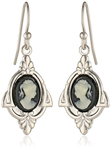1928 Jewelry Embellish Vintage - Inspired Cameo Drop Earrings