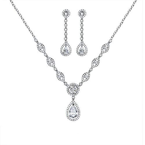 Ladies Silver Wedding Jewelry Set