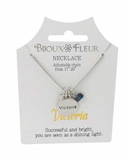 Bijoux Fleur Necklace with The Name Victoria
