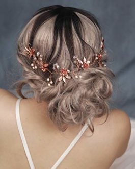 Handmadejewelrylady Rose Gold Leaf Hairbands Wedding Hair Accessories Bride Hair Jewelry For Women Headpiece Tiara Bridal Headband