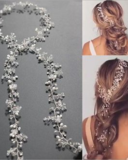 Silver Crystal Flower Bridal Hair Piece Jewelry