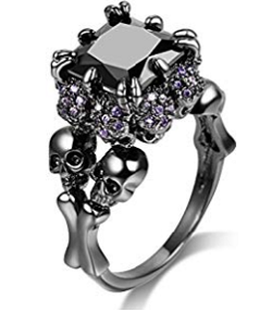 Oyifan Women Skull Rings Gothic Jewelry