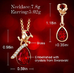 Women Valentine Jewelry Set